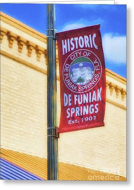 Downtown De Funiak Springs Greeting Card by Mel Steinhauer