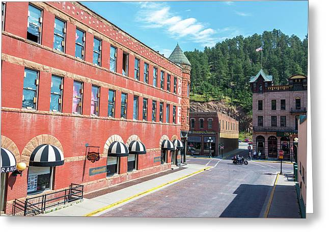 Downtown Deadwood, South Dakota Greeting Card