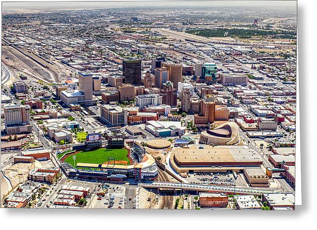 Downtown El Paso Greeting Card