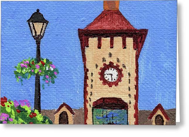 Downtown Frankenmuth Michigan Impressionistic Landscape Xxxx Greeting Card