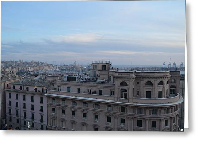 Downtown Genoa I Greeting Card