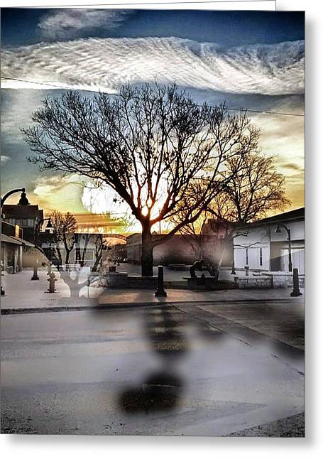 Downtown Hdr Atchison Greeting Card by Dustin Soph