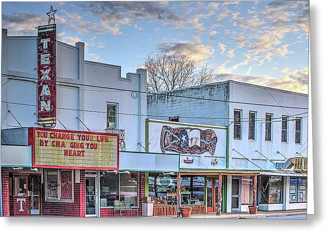 Downtown Junction Texas Greeting Card by JC Findley