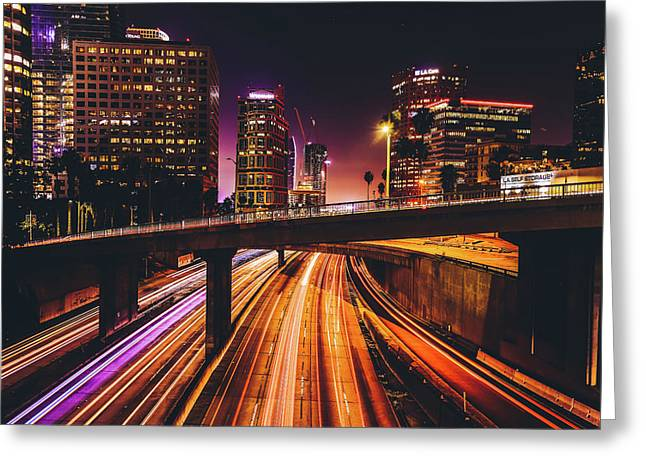Downtown Legends Greeting Card by Arya Rossman