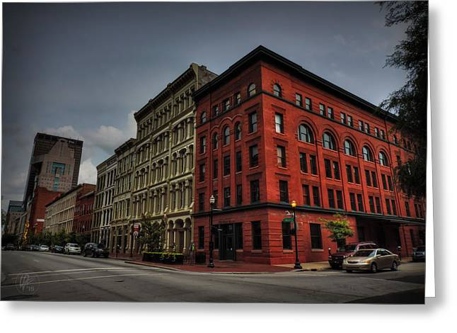 Downtown Louisville - W Main St 001 Greeting Card by Lance Vaughn