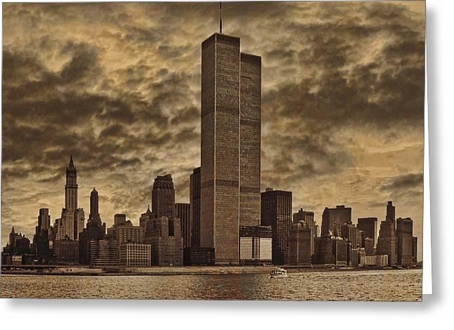 Downtown Manhattan Circa Nineteen Seventy Nine  Greeting Card by Chris Lord