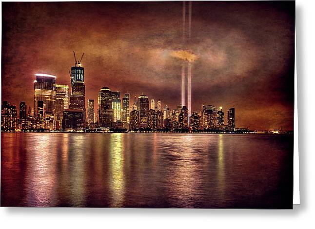 Downtown Manhattan September Eleventh Greeting Card by Chris Lord