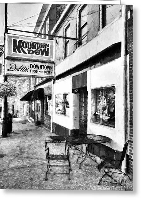 Downtown Maysville Kentucky # 3 Black And White Greeting Card
