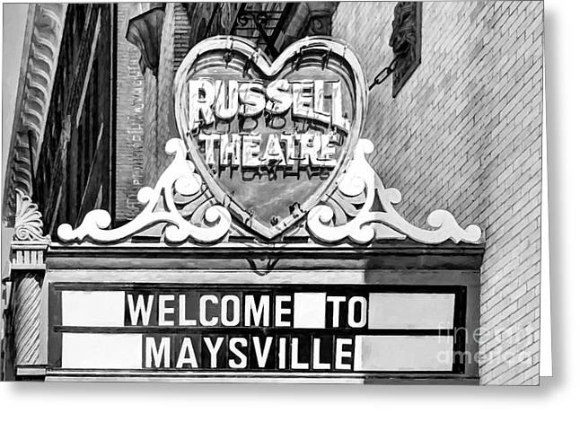 Downtown Maysville Kentucky # 4 Black And White Greeting Card by Mel Steinhauer