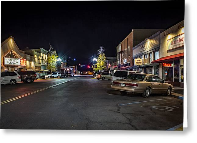 Downtown Monte Vista, Co Greeting Card by Kenneth Michel