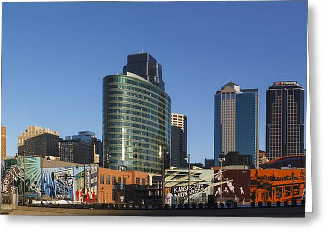 Downtown Mural Greeting Card by Dennis Hedberg