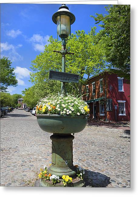 Downtown Nantucket - Garden View 46y Greeting Card