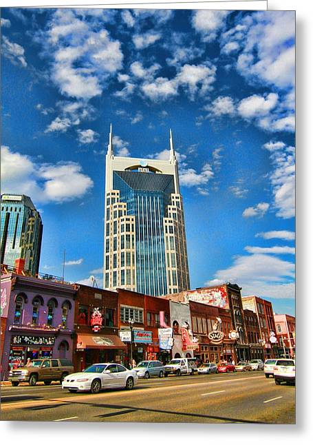 Downtown Nashville Blue Sky Greeting Card