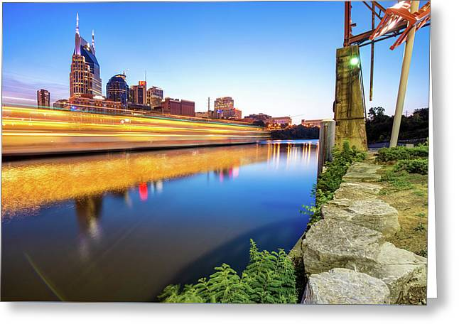 Downtown Nashville Tennessee Skyline On The River Greeting Card