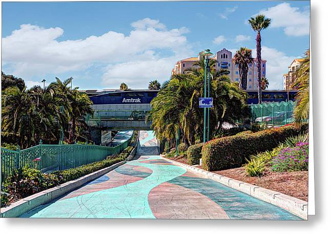 Downtown Oceanside Greeting Card by Ann Patterson