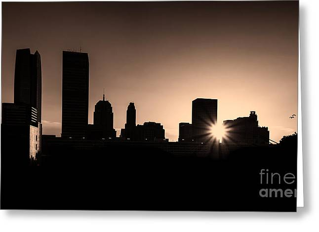 Greeting Card featuring the photograph Downtown Oklahoma City by Betty LaRue