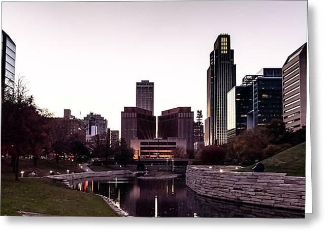 Downtown Omaha At Sunset Greeting Card