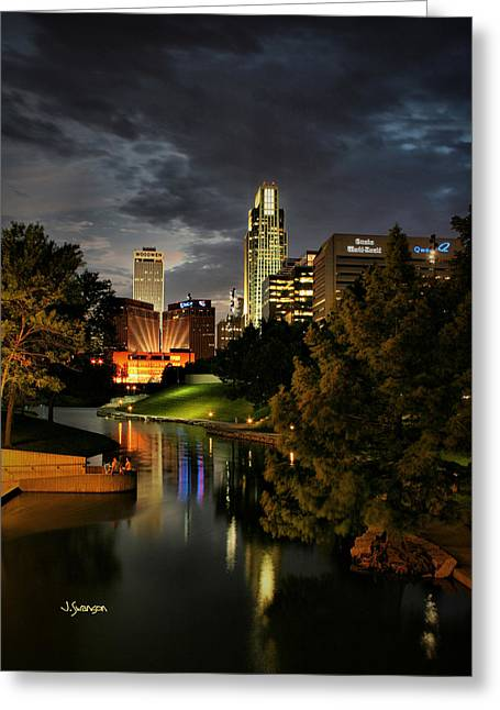 Downtown Omaha Greeting Card