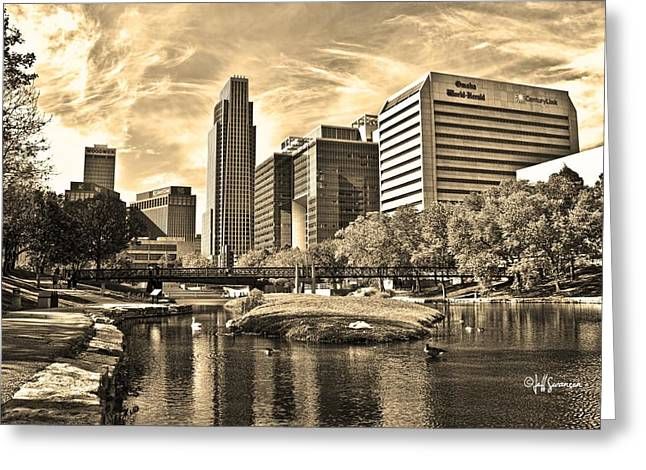 Downtown Omaha Nebraska Greeting Card