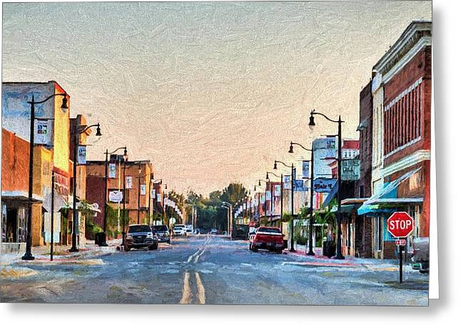 Downtown Paragould Greeting Card by JC Findley