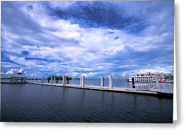 Downtown Pier Greeting Card
