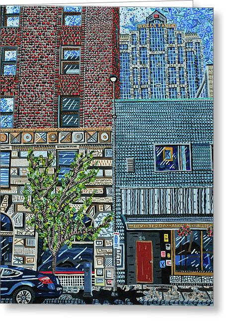 Downtown Raleigh - West Martin Street Greeting Card by Micah Mullen