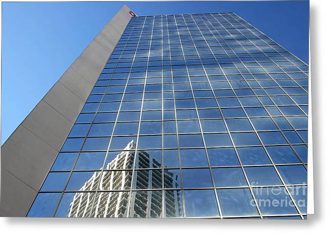 Greeting Card featuring the photograph Downtown Reflection by Wilko Van de Kamp