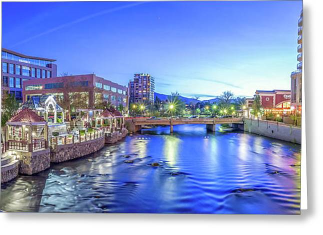 Downtown Reno Summer Twilight Greeting Card