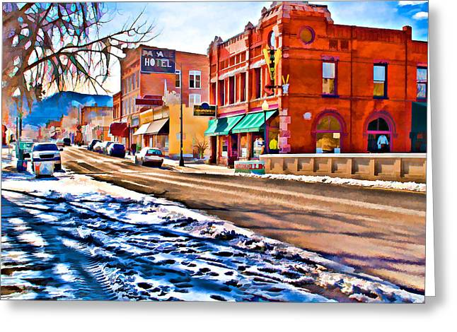 Downtown Salida Hotels Greeting Card