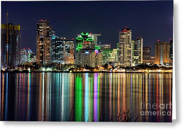 Greeting Card featuring the photograph Downtown San Diego by Eddie Yerkish