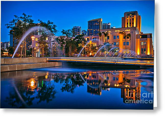 Downtown San Diego Waterfront Park Greeting Card