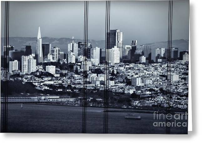 Downtown San Francisco Greeting Card by Doug Sturgess