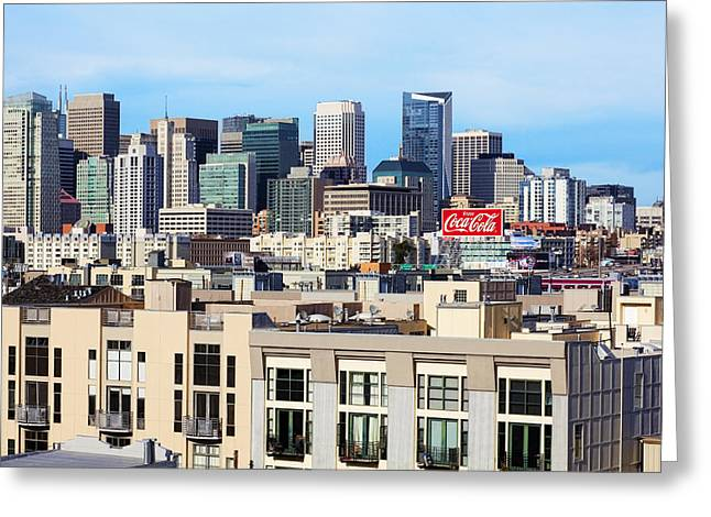 Downtown San Francisco Greeting Card by Kelley King