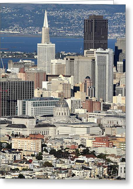 Downtown San Francisco Greeting Card by Pierre Leclerc Photography