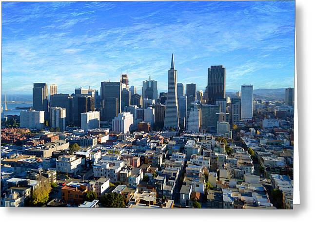 Downtown San Fransisco Greeting Card
