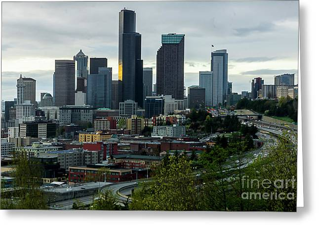 Downtown Seattle,washington Greeting Card