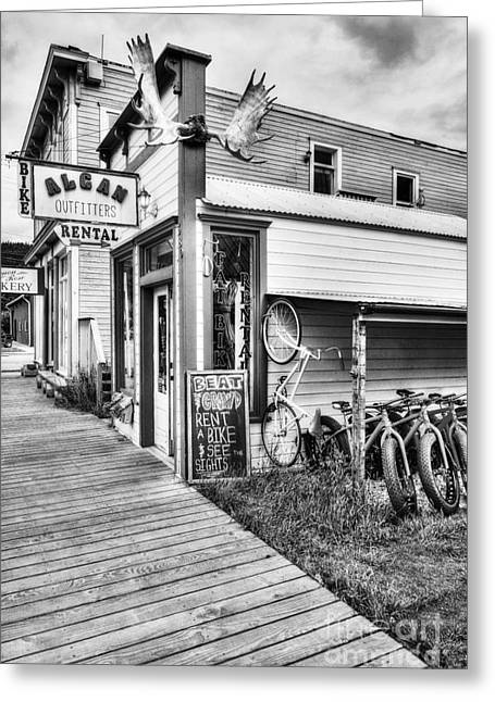 Downtown Skagway 3 Bw Greeting Card by Mel Steinhauer