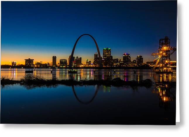 Downtown St. Louis And The Gateway Arch Greeting Card