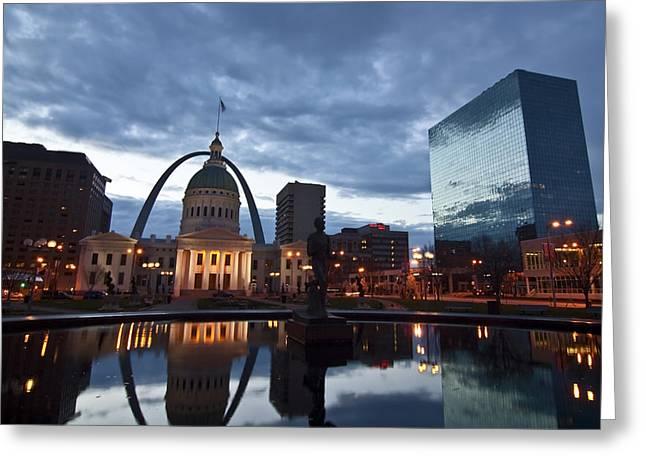 Downtown St. Louis At Dawn Greeting Card