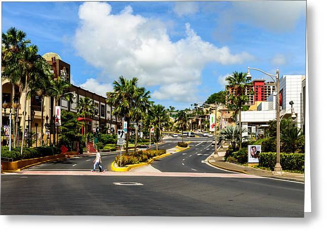 Downtown Tamuning Guam Greeting Card