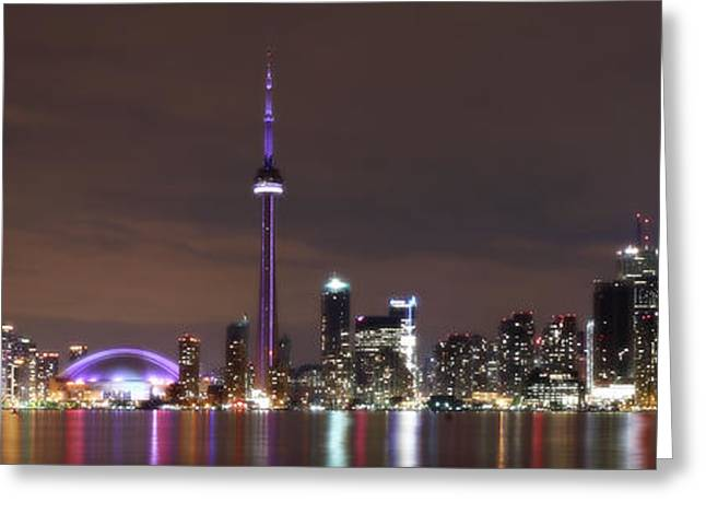 Downtown Toronto - Lit Up Greeting Card
