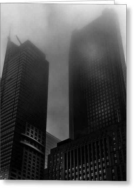 Downtown Toronto Fogfest No 2 Greeting Card by Brian Carson