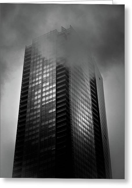 Downtown Toronto Fogfest No 24 Greeting Card by Brian Carson