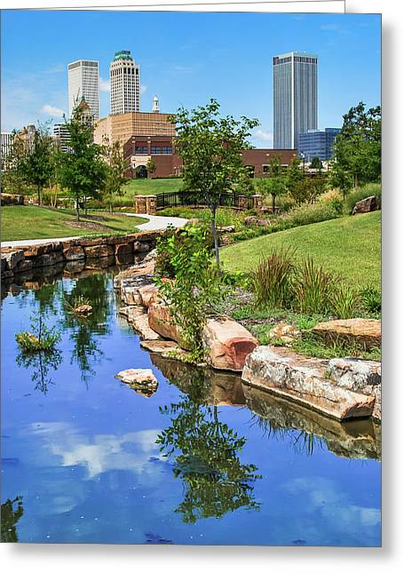 Downtown Tulsa Oklahoma Skyline. Ca. 2008 Greeting Card by Gregory Ballos