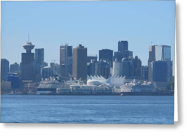 Downtown View From North Vancouver Greeting Card