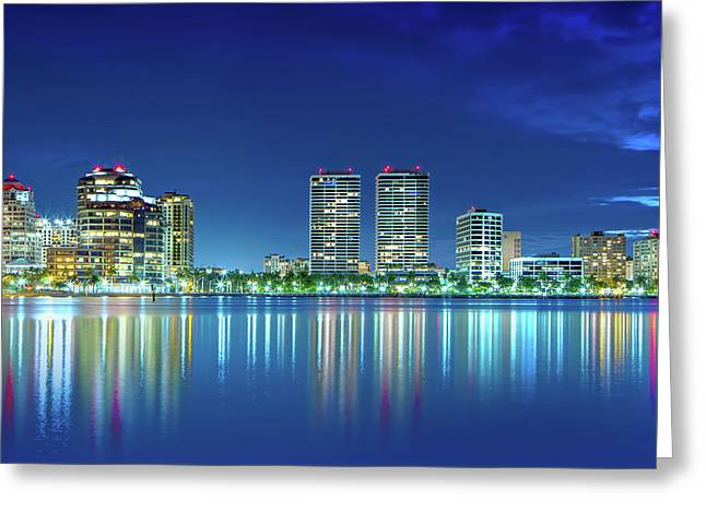 Downtown West Palm Beach  Greeting Card by Mark Andrew Thomas