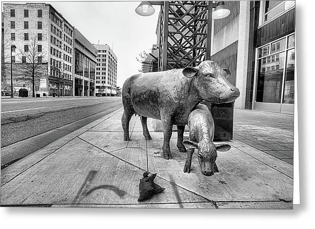 Downtown Wichita Greeting Card by JC Findley