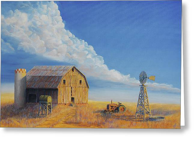 Cattle Farming Greeting Cards - Downtown Wyoming Greeting Card by Jerry McElroy