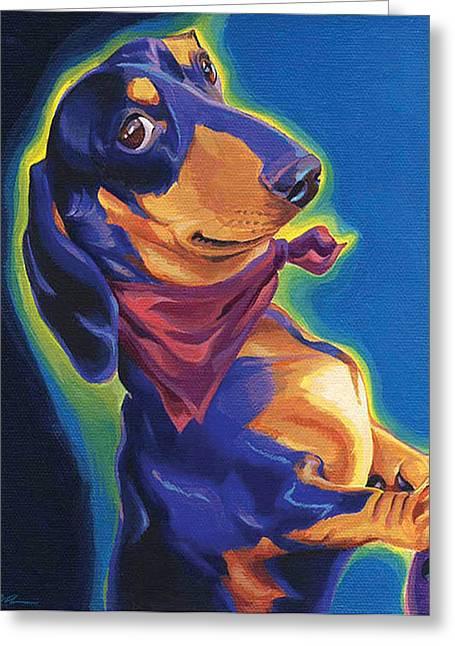 Dox - The Long Lebowski Greeting Card by Shawn Shea