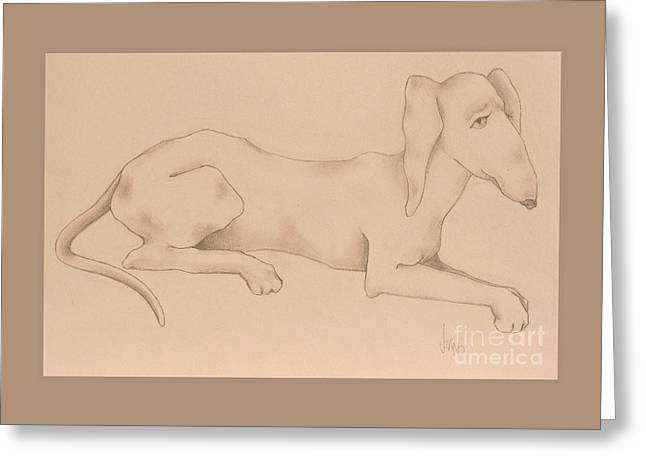 Doxies, Bad To The Bone Greeting Card